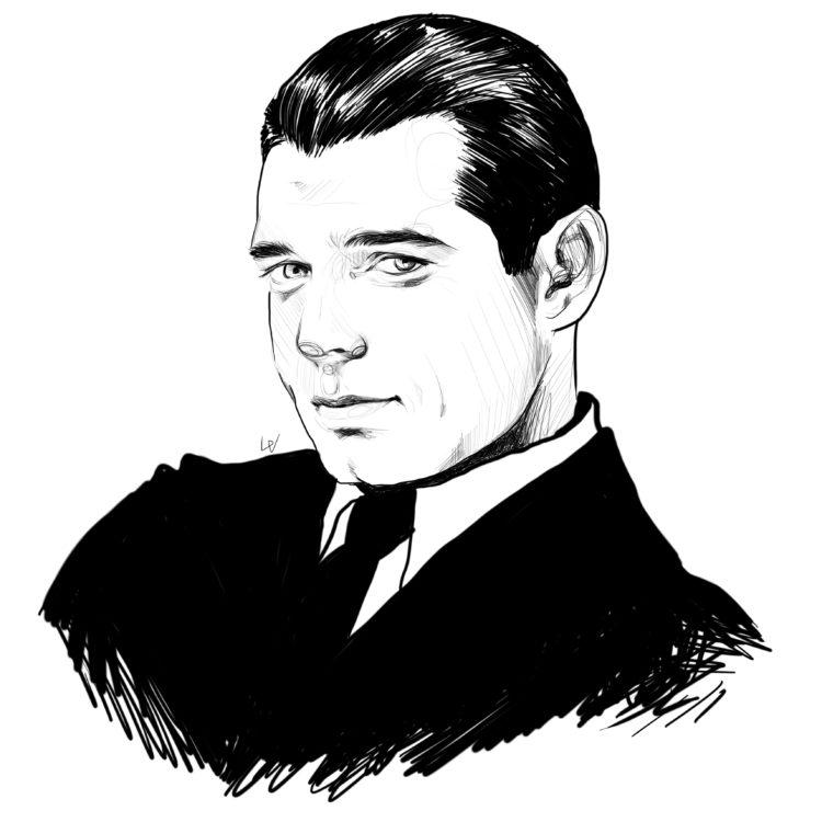 Clark Gable illustration