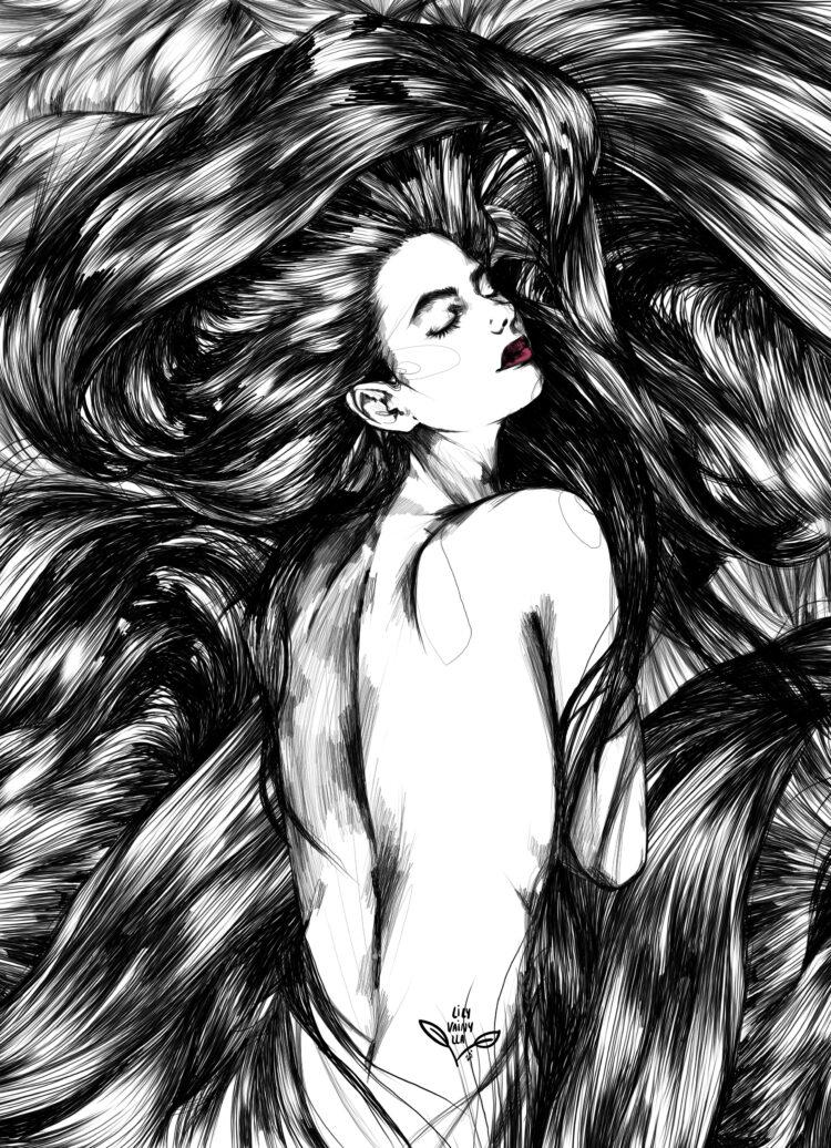 Digital art. Lily Vainylla.
