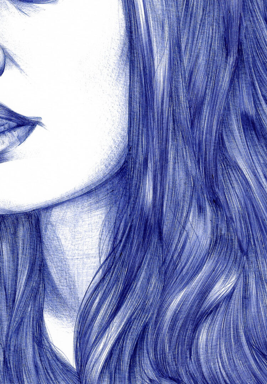 Eva Green. Pen art. Lily vainylla.