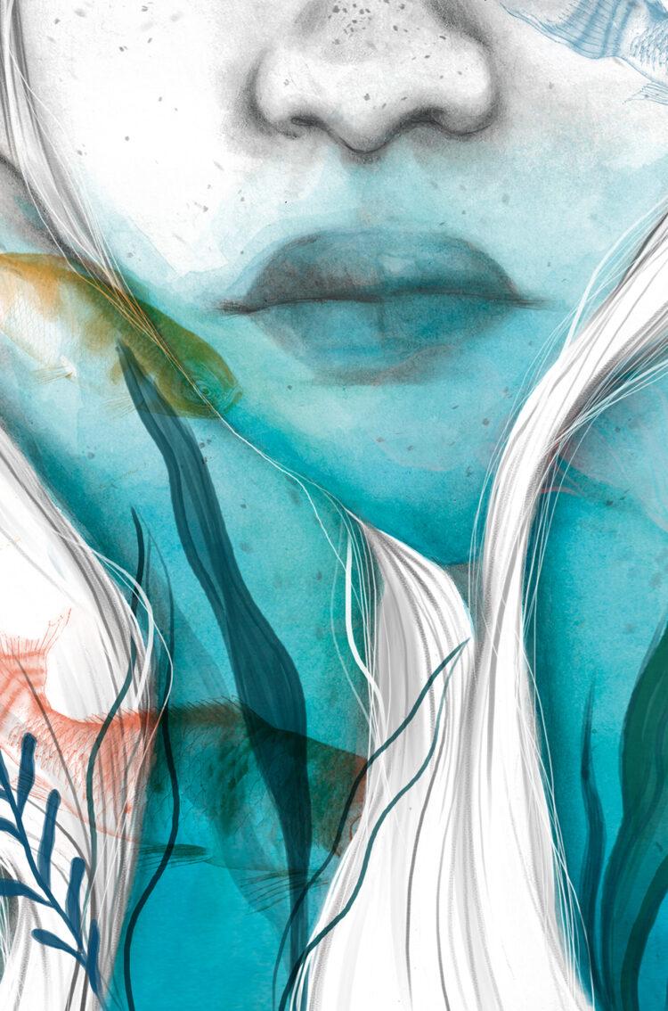 Cuando abracé al tiempo. Postdata Ediciones, ilustración editorial. Lily Vainylla.