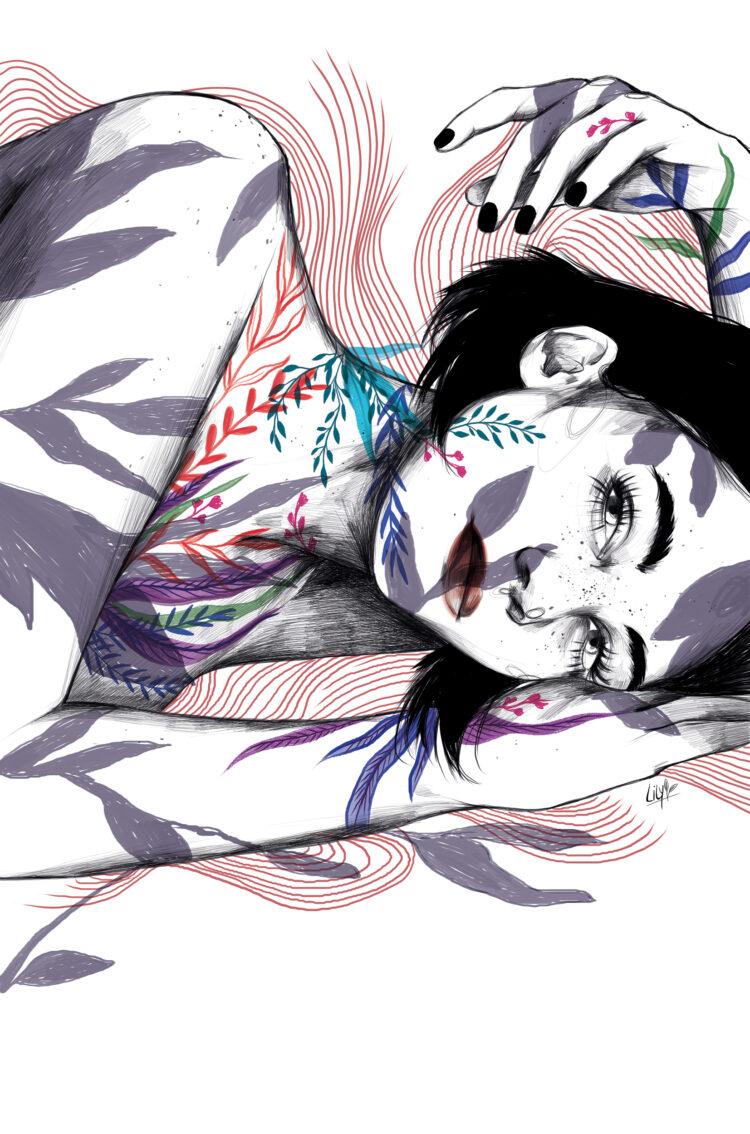 Caos, Lily Vainylla, Postdata Ediciones. Ilustración Editorial.