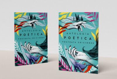 Antología Poética Postdata ediciones, ilustración digital, Lily Vainylla